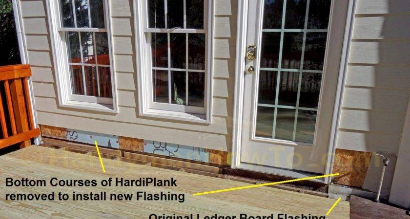 Lap Siding Removed Replace Wood Deck Ledger Board Flashing