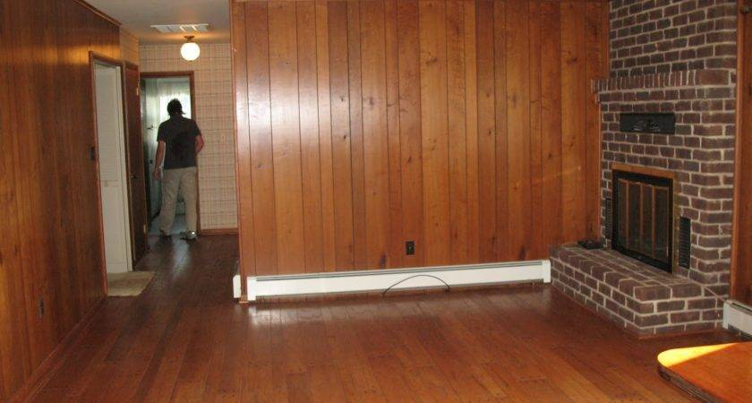 Lara Bill Painting Wood Paneling Den Project