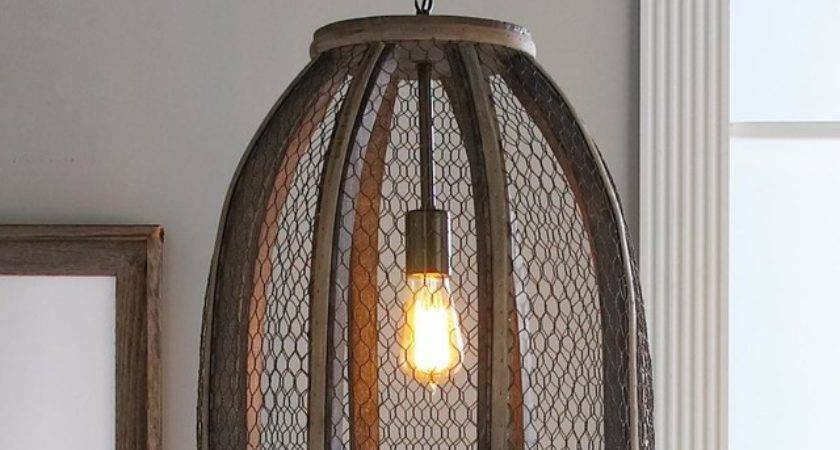 Large Chicken Wire Pendant Lighting Shades