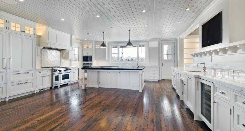 Large Remodel Kitchen Design Painted All White