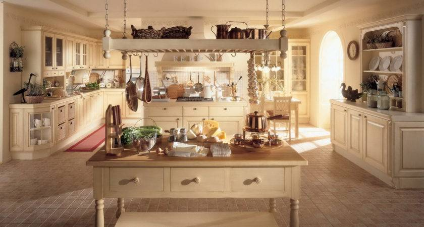 Large Rustic Country Style Kitchen Decoration Old