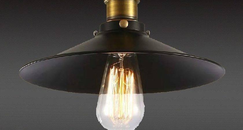 Latest Loft Vintage Ceiling Lamp Round Retro Light
