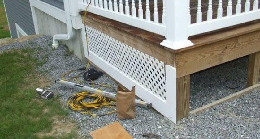 Lattice Skirting House Pvc Porch Skirt Detail
