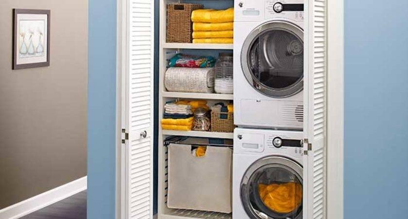 Laundry Closet Stacked Washer Dryer