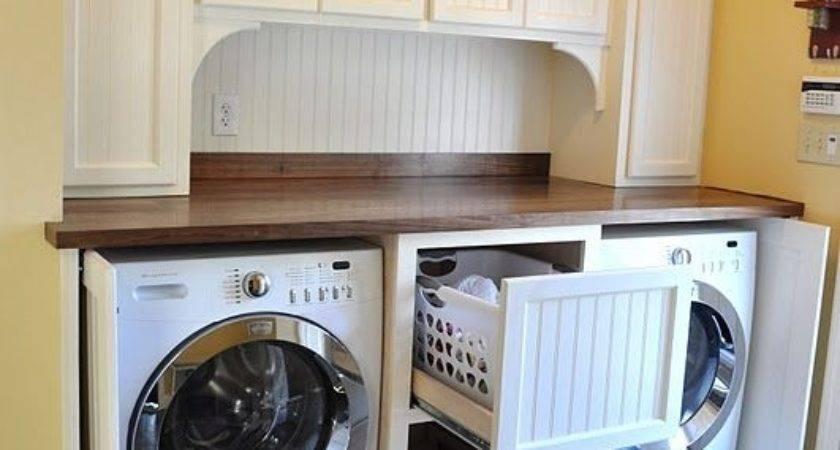 Laundry Room Love Doors Hide Washer Dryer