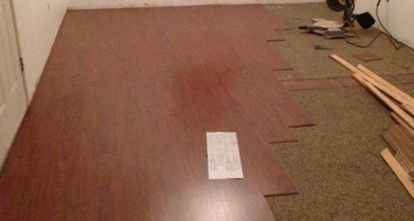 Lay Laminate Flooring Top Carpet Your New Floor