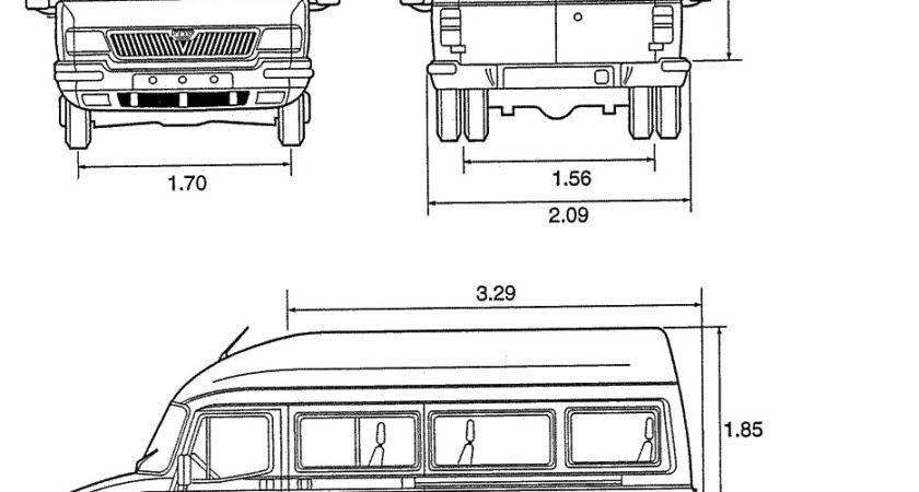 Ldv Convoy Minibus Blueprint