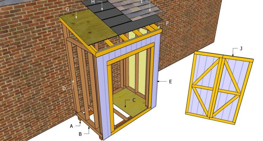 Lean Shed Plans Outdoor Diy