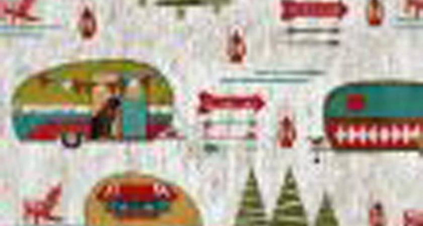 Legacy Studio Quilt Fabric Happy Campers Lake House Ann
