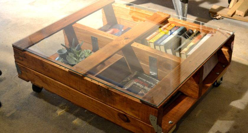 Let Table Glass Top Pallet