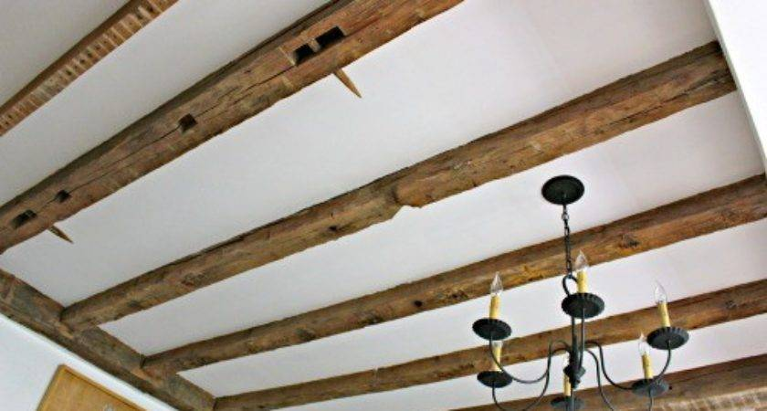 Letter Ceiling Makeover Expose Wood Beams