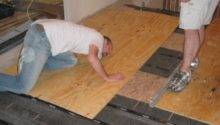 Level Plywood Osb Subfloor Using Asphalt