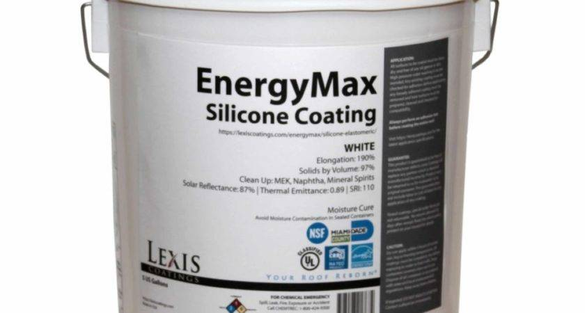 Lexis Energymax Silicone Roof Coating Gallon White