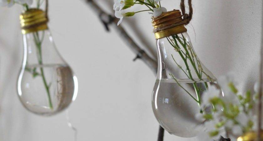 Light Bulb Flower Vase Life Party
