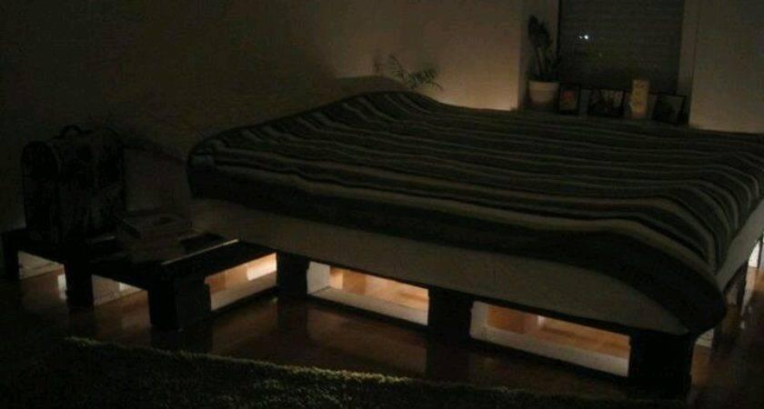 Lighted Pallet Bed Pallets Pinterest Lights