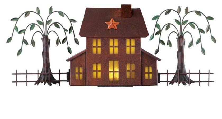 Lighted Primitive Rustic House Wall Art Ebay