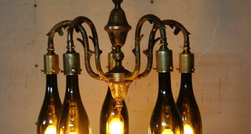 Lighting Wine Bottle Chandelier Apt Pinterest Enchanting