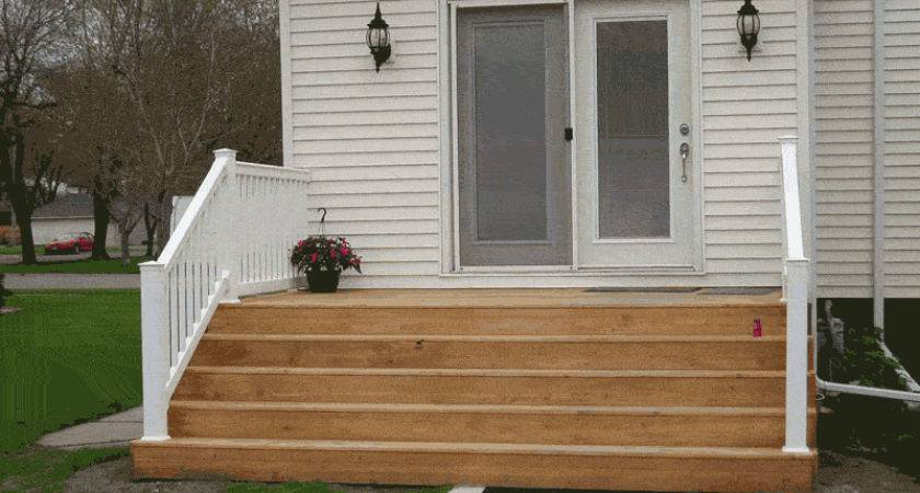 Liking Wide Step Idea Back Door Leading
