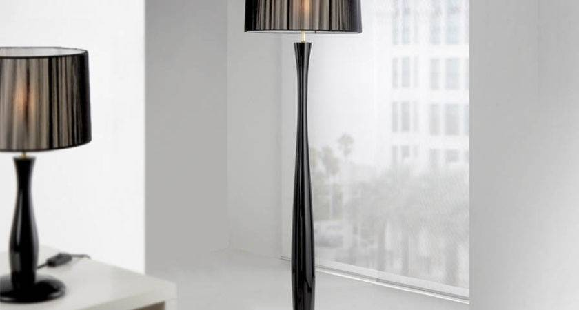 Lin Black Shade Floor Lamp Kit Schuller