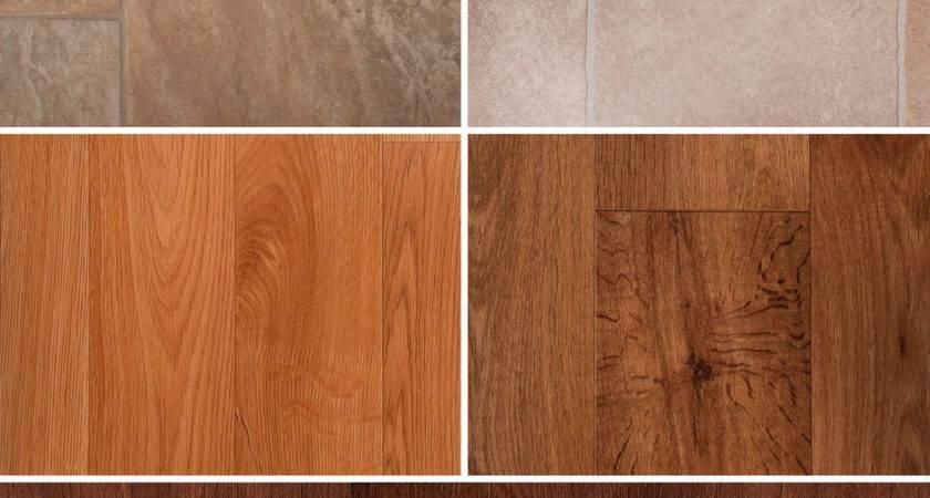 Lino Vinyl Flooring Natural Beige Stone Tiles Wood