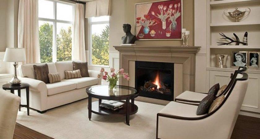 Living Room Arrangements Fireplace Designs