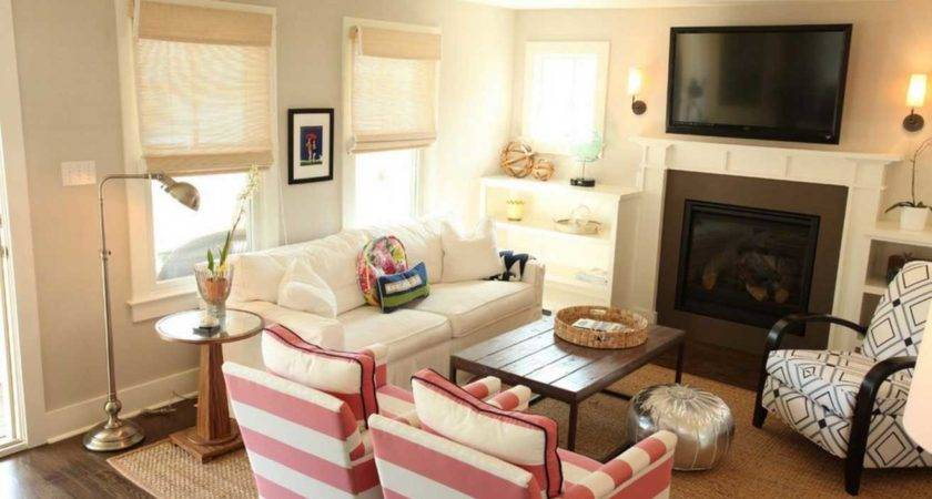 Living Room Arrangements Small Spaces Fireplace
