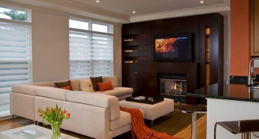 Living Room Modern Nice Fireplace
