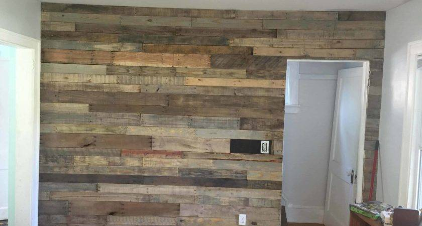 Living Room Pallet Accent Wall Pallets