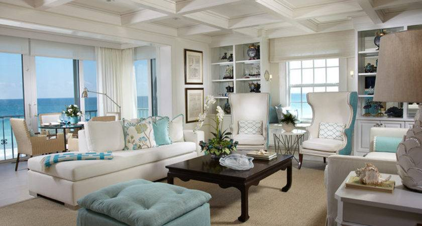 Living Rooms Beach Style Room Atlanta