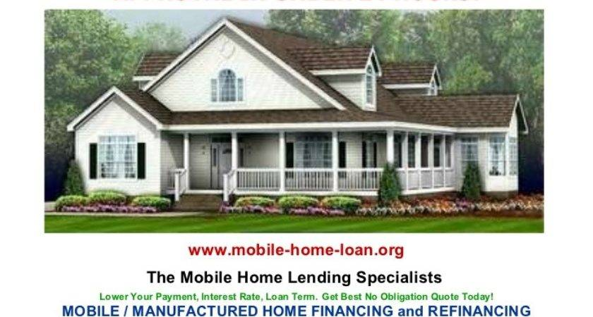 Loans Manufactured Homes Financing
