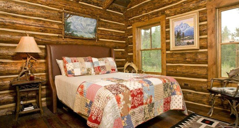 Log Cabin Decorated Christmas Pleasing Home