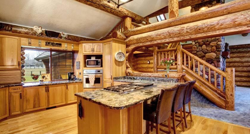 Log Cabin Kitchens Cabinets Design Ideas Designing Idea
