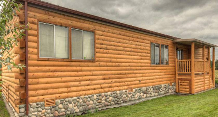 Log Cabin Mobile Home Siding Homes Ideas