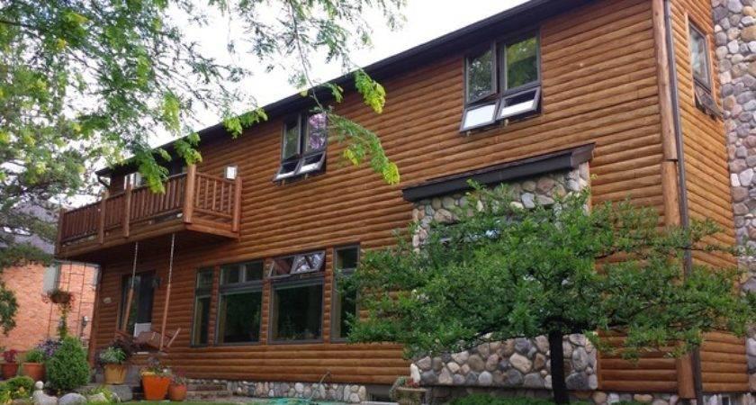 Log Cabin Siding Rustic Exterior Detroit Ogne