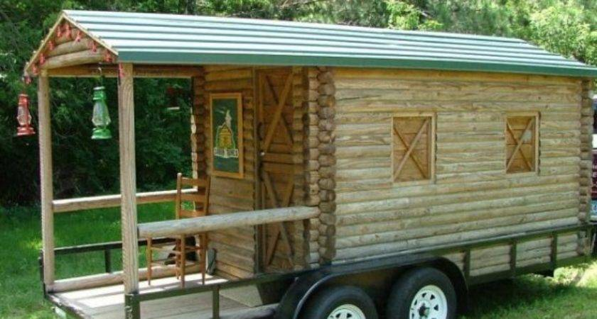 Log Cabin Wheels Covered Porch Sale