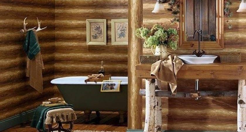 Log Home Bathroom Decor Takcop