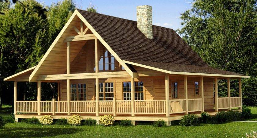 Log Home Floor Plans Wrap Around Porch