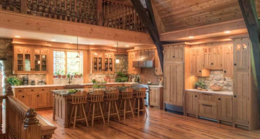 Log Home Kitchens Design Ideas