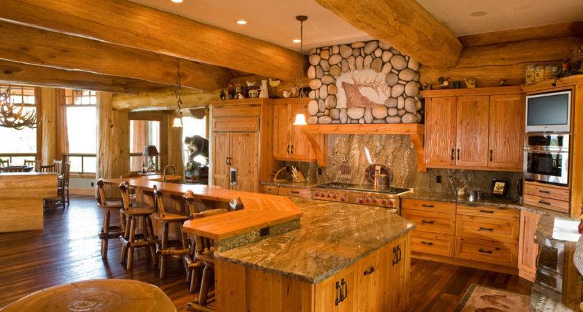 Log Homes Kitchen Dining Canada