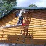 Log Look Vinyl Siding Cabin Steel