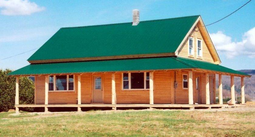 Log Siding Combined Natural Round Porch Posts Rafters
