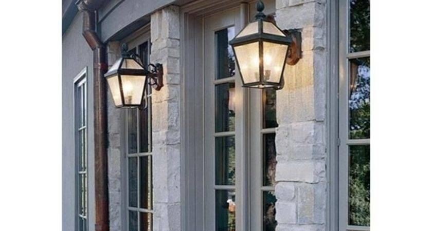London Lantern Wide Scrolled Arm Exterior Wall Light
