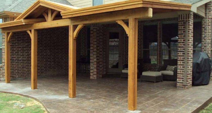 Long Patio Cover Gable Attached Fascia Hundt