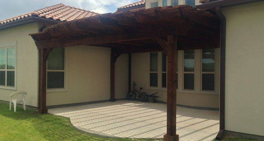Lovely Covered Patios Attached House Design Houzidea