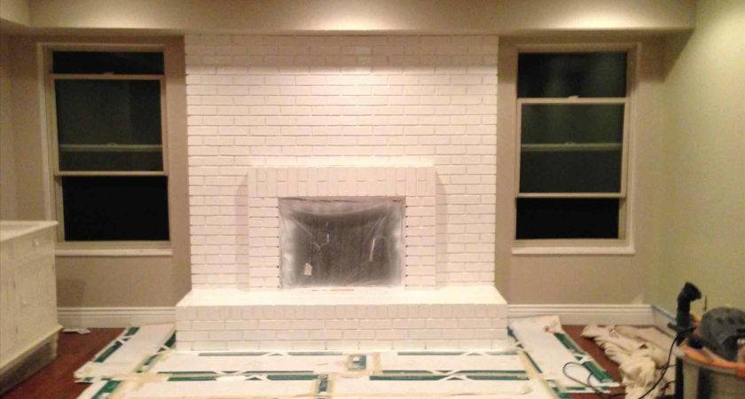 Lovely Floor Ceiling Brick Fireplace Makeover Home