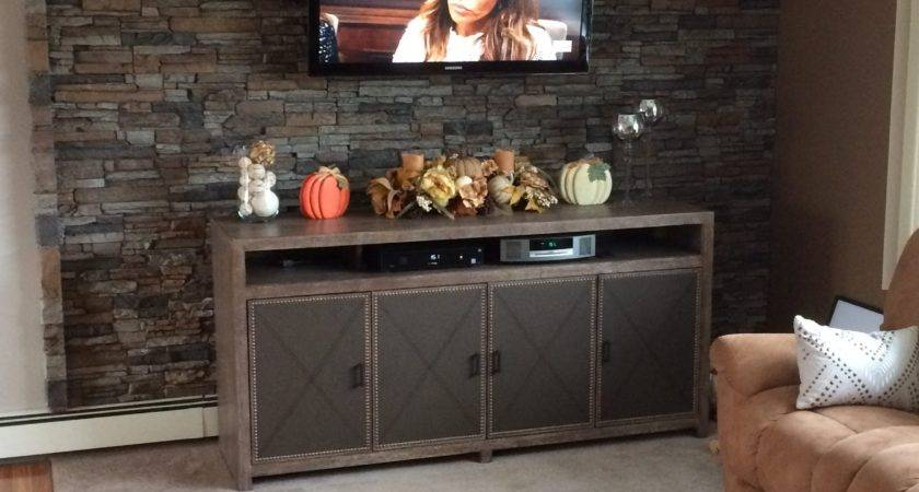 Lovely Living Room Accent Wall Creative Faux Panels