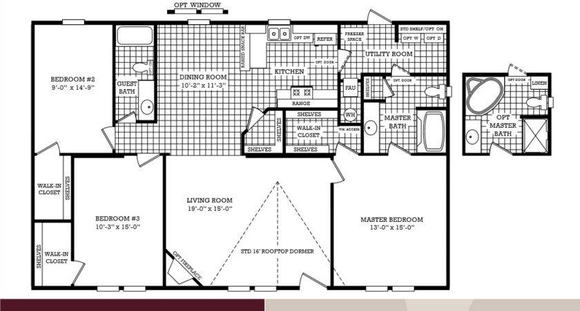 Lovely Mobile Home Plans Double Wide Bedroom Bath