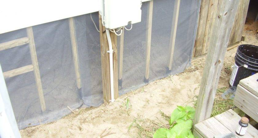 Low Rent Renaissance Latex Cement Mobile Home Skirting