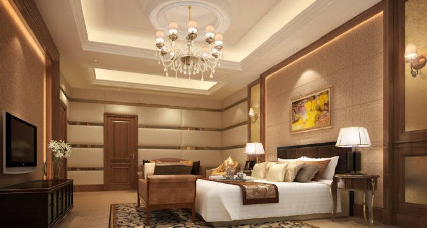 Luxurious Hotel Bed Room Cgtrader