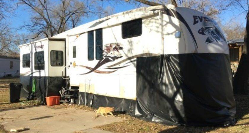 Made Diy Vinyl Skirting Winter Camping